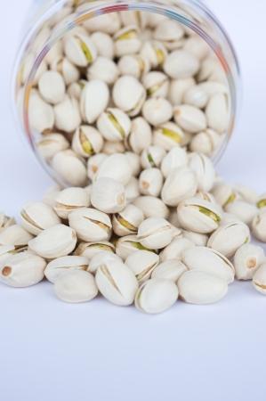 shelled: large group of shelled pistachio.
