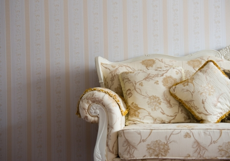sumptuous: Beautiful sofa on a background of a wall