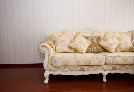 Beautiful sofa on a background of a wall  Stock Photo - 14074652