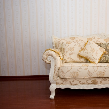 Beautiful sofa on a background of a wall Stock Photo - 14079299