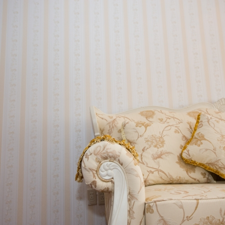 Beautiful sofa on a background of a wall Stock Photo - 14074553