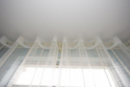 white velvet curtains in a room . Stock Photo - 14074659