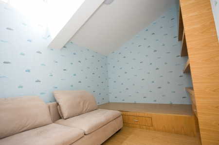 Bedroom in attic or loft  photo