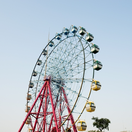 ferris wheel against on the sky  photo