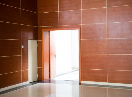 the empty room with opened door.  Stock Photo - 14177267