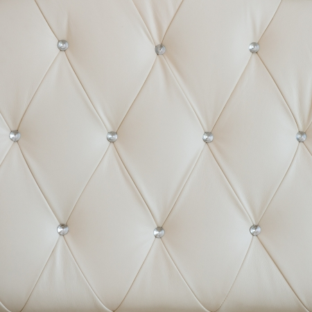 seamless white leather texture or background Stock Photo - 14174306