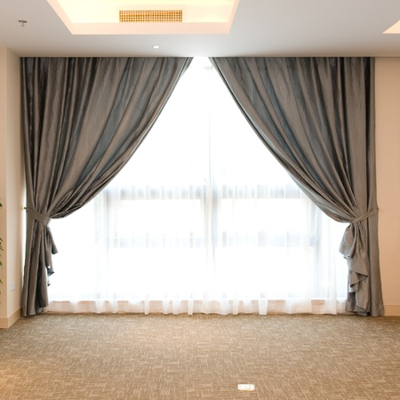 Luxury curtain with a copy-space in the middle  Stock Photo - 14175763