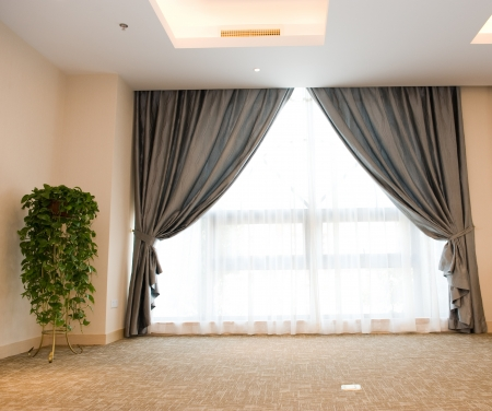 Luxury curtain with a copy-space in the middle Stock Photo - 14177269