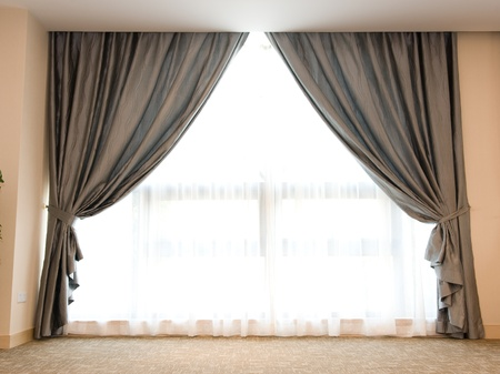curtain window: Luxury curtain with a copy-space in the middle