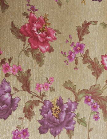 textile pattern with floral ornament useful as background.  Stock Photo - 14247953