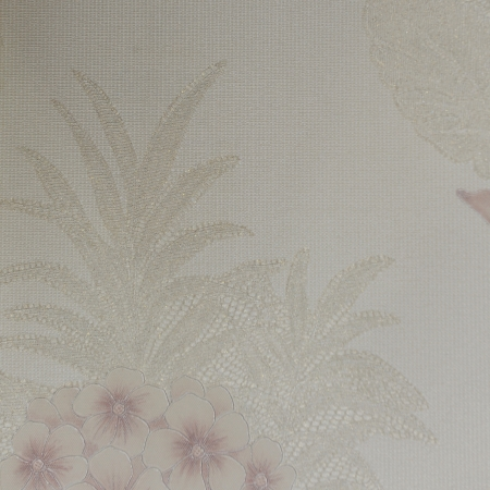 Beautiful seamless color flower pattern on wallpaper. photo