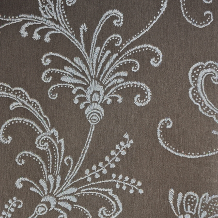 white fabric texture: excellent seamless floral wallpaper background.