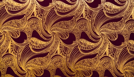 Luxury seamless golden wallpaper background. photo