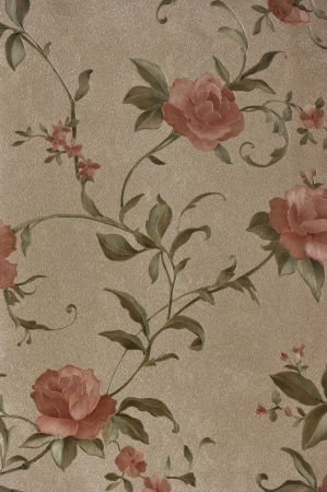 adorned: textile pattern with floral ornament useful as background.  Stock Photo