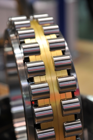 chock: Close-up of a stainless steal bearing
