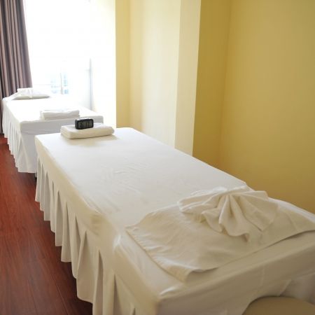 massage beds in a massage clinic  photo