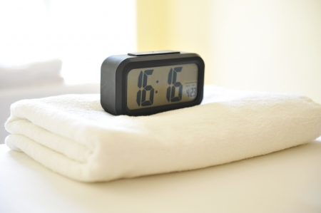 massage beds in a massage clinic with a clock. Stock Photo - 14248212