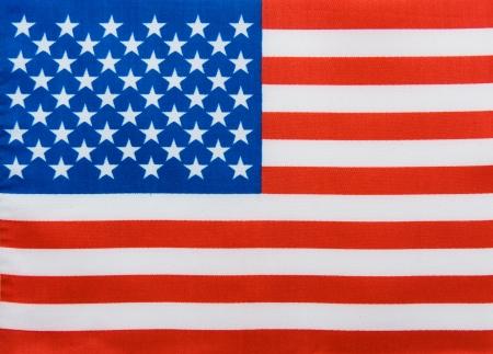Close-up shot ofamerican flag. photo