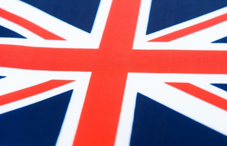 Close-up shot of  United Kingdom flag.  photo