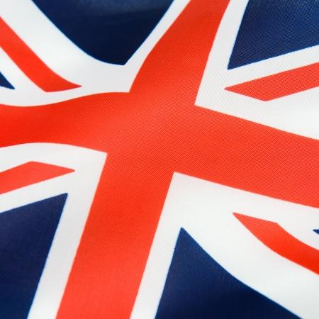 drapeau anglais: Gros plan du drapeau britannique ondulée