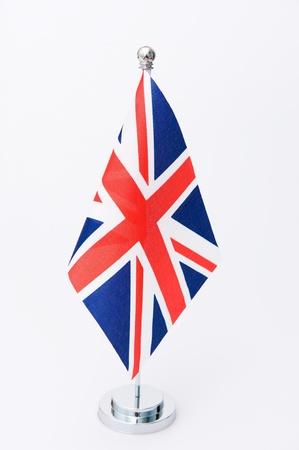 bandera estados unidos: Reino Unido bandera de mesa aislada en blanco