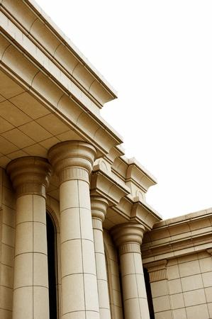 derecho romano: Primer plano de un pilar clásico Foto de archivo