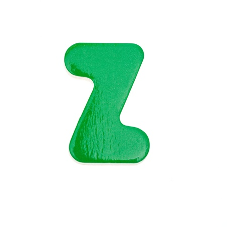 wooden toy letter Z isolated on white background. photo