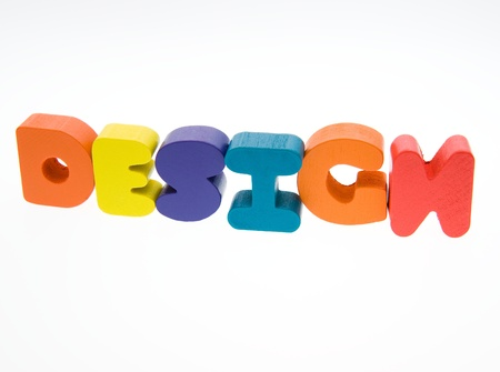 Wooden letters spelling the word