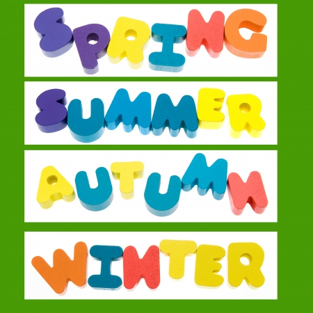Colorful words - Spring, Summer, Autumn, Winter.  photo