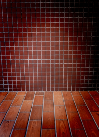 old grunge interior with brick wall  Stock Photo - 14596035