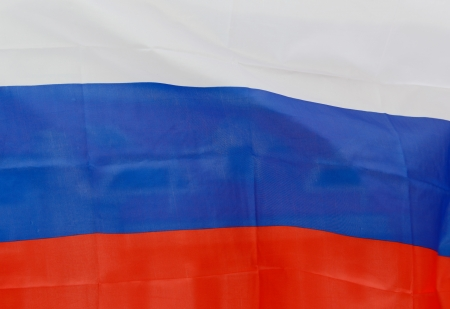 russia flag: Close up shot of wavy Russia flag.