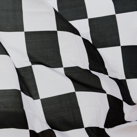 close-up of racing flag, background. Stock Photo - 14588873