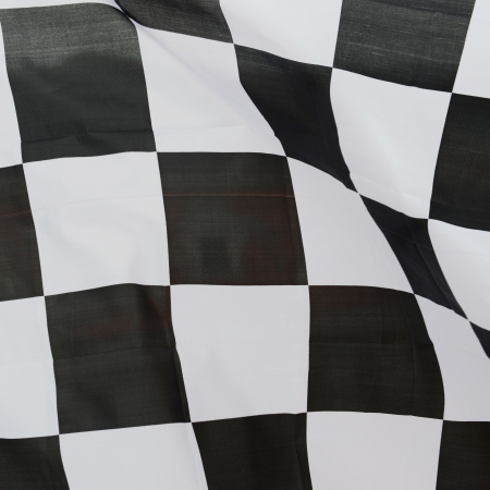 close-up of racing flag, background. photo
