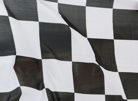 close-up of racing flag, background. Stock Photo - 14595308