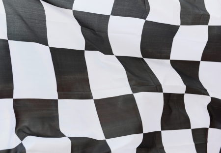 close-up of racing flag, background. Stock Photo - 14595541