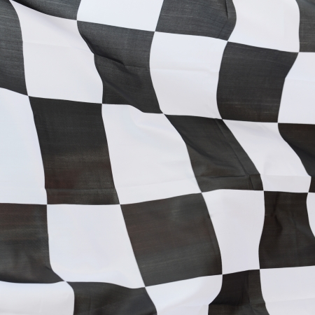 close-up of racing flag, background. Stock Photo - 14595039