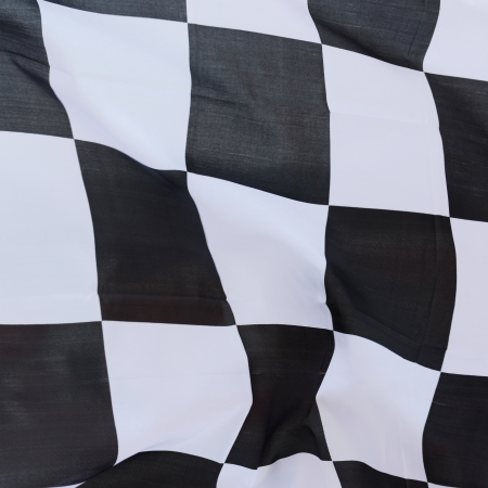 close-up of racing flag, background. Stock Photo - 14588902