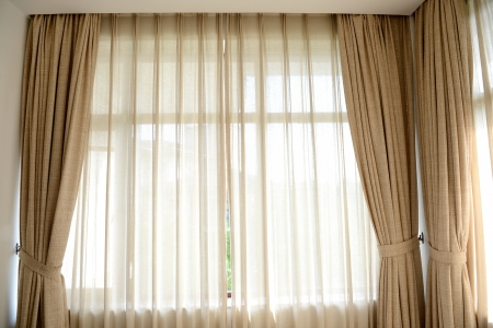 Luxury curtain with a copy-space in the middle Stock Photo - 15303756