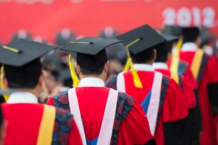 back of graduates during commencement. Stock Photo - 15884152