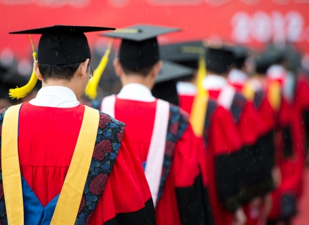 back of graduates during commencement.  Stock Photo - 15886062