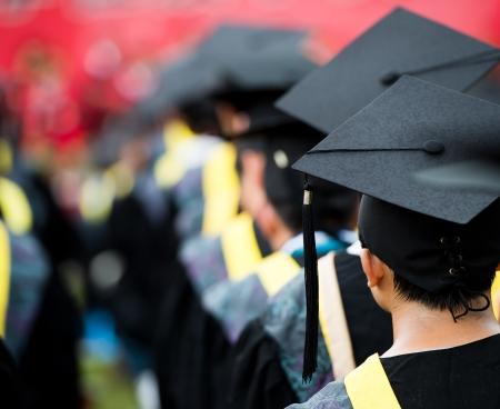 graduacion de universidad: posterior de los graduados durante la apertura.