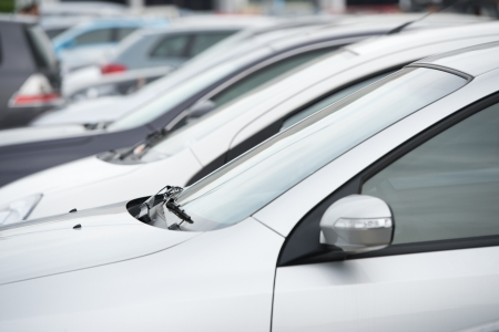 many cars parked in a row. Stock Photo - 16501837
