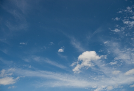 blue sky is covered by white clouds. Stock Photo - 16504779