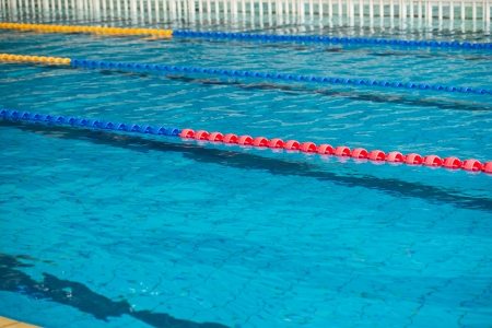 empty swimming pool with many lanes.  photo