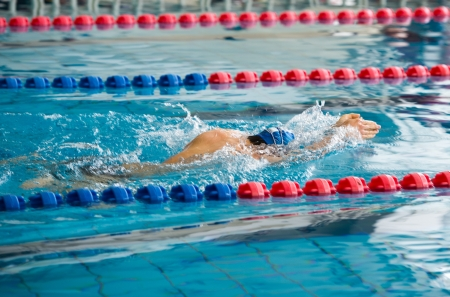 crawl: Man swimming during a competition