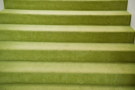 green carpet: Abstract background of green carpet stairs  Stock Photo