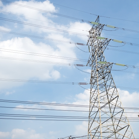 power tower, high voltage post. Stock Photo - 17414856