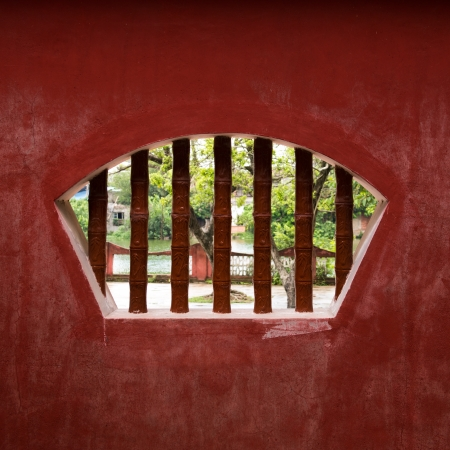 traditional window in a temple of china  photo