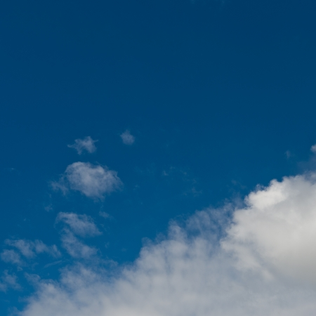 White clouds in blue sky.  Stock Photo - 17414732