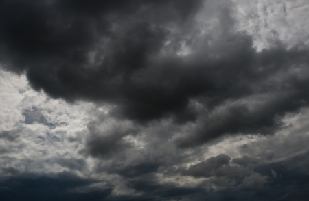 Background of dark clouds before a thunder-storm Stock Photo - 17415043